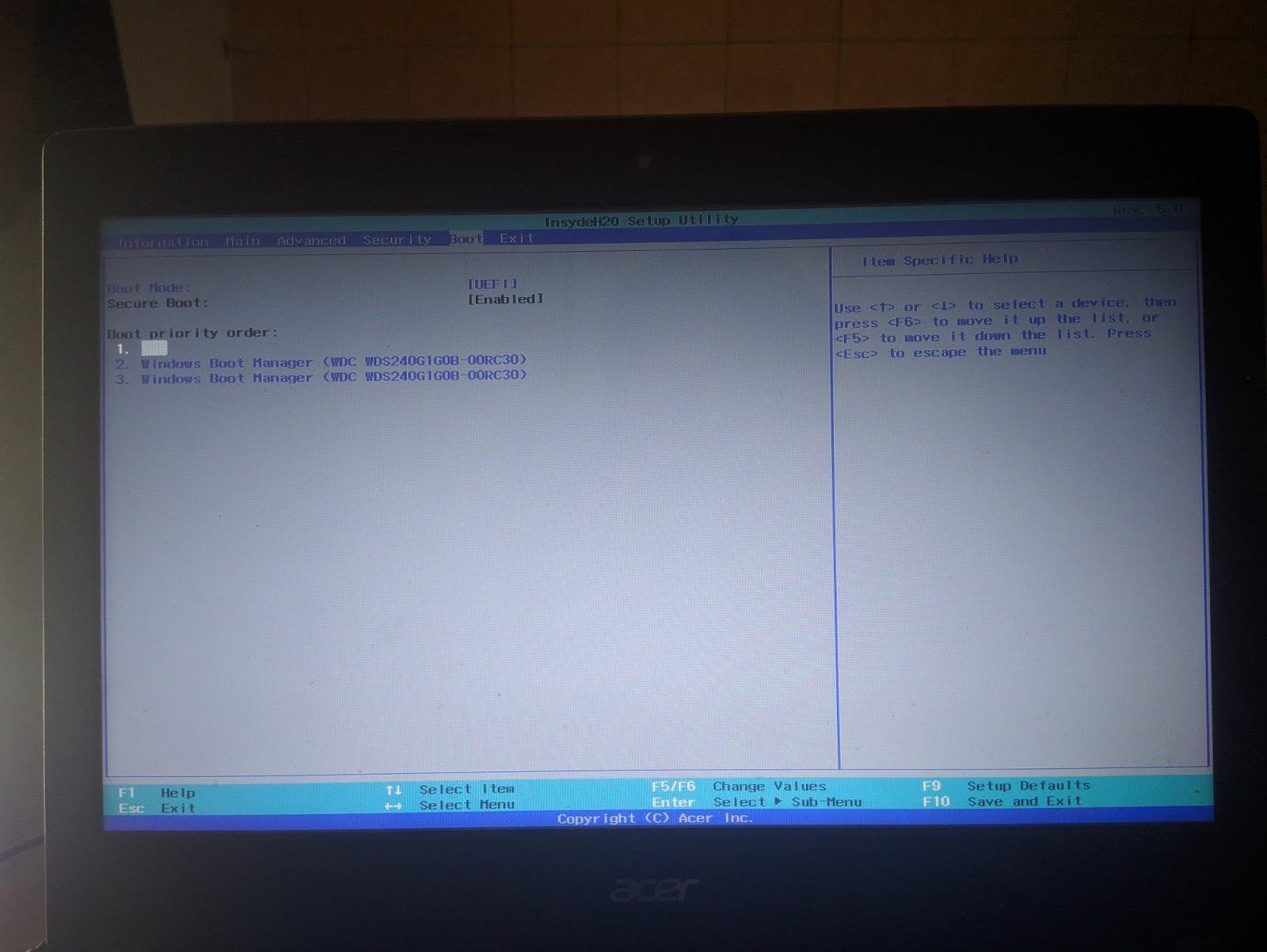 Cara Update BIOS Acer ke Versi Terbaru (Acer E5 476G) | WeBaik