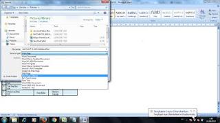 cara membuat tabel dalam blog menggunakan ms word