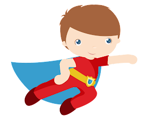Clipart de Niños Disfrazados de Super Héroes.