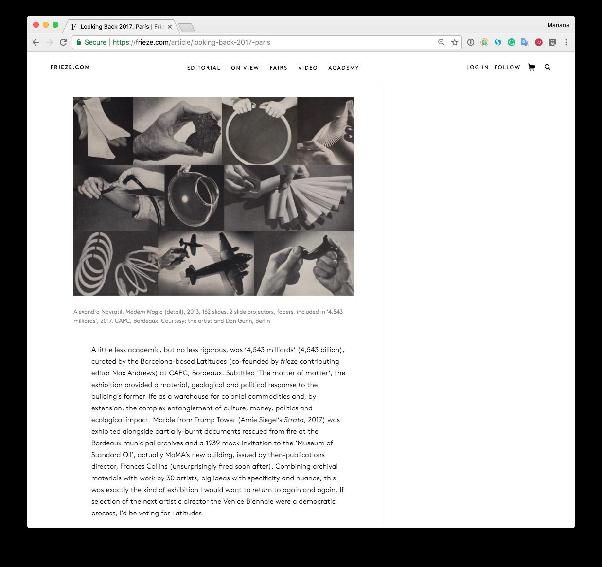 Latitudes: Blog