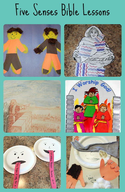 Five Senses Bible Lesson Unit  - Six lessons for kids with crafts and activities | scriptureand.blogspot.com