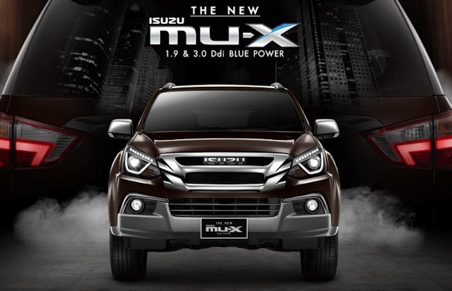 The New 2018 Isuzu MU-X front view