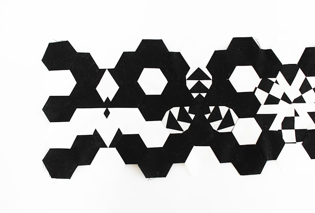 Black and White Quilted Jewels Hex-N-More Ruler