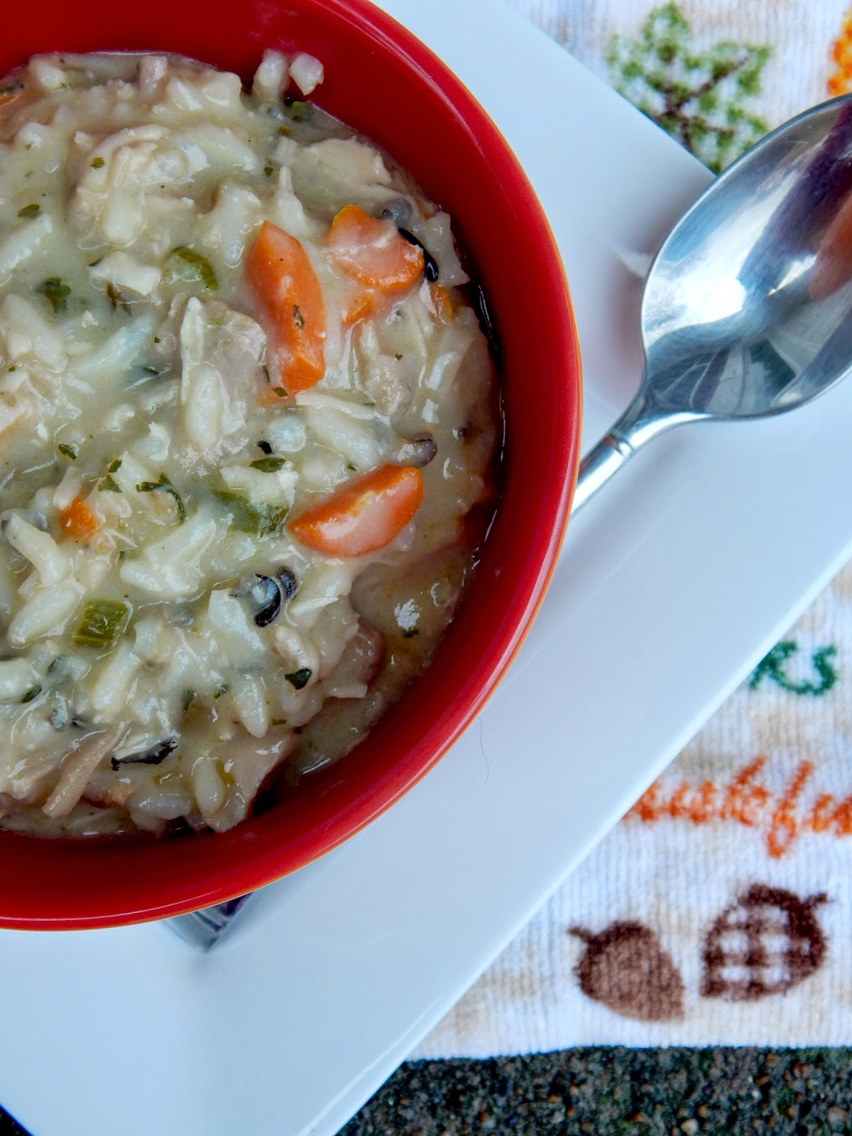 creamy turkey and wild rice soup (sweetandsavoryfood.com)