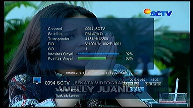 Channel SCTV MPEG4 Terbaru 2017 di Satelit Palapa D
