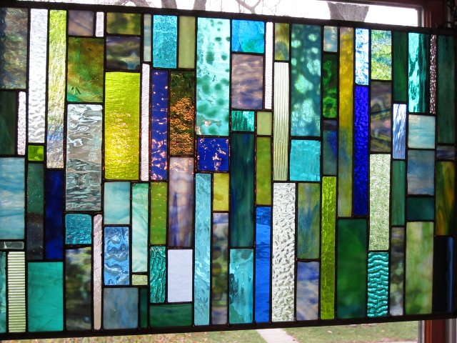 Modern stained glass window designs home and auto glass for Modern glass window design