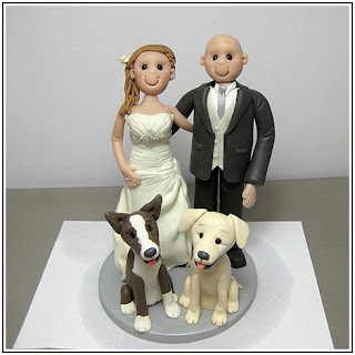 Pet and Brides Figurines Wedding Cake Topper