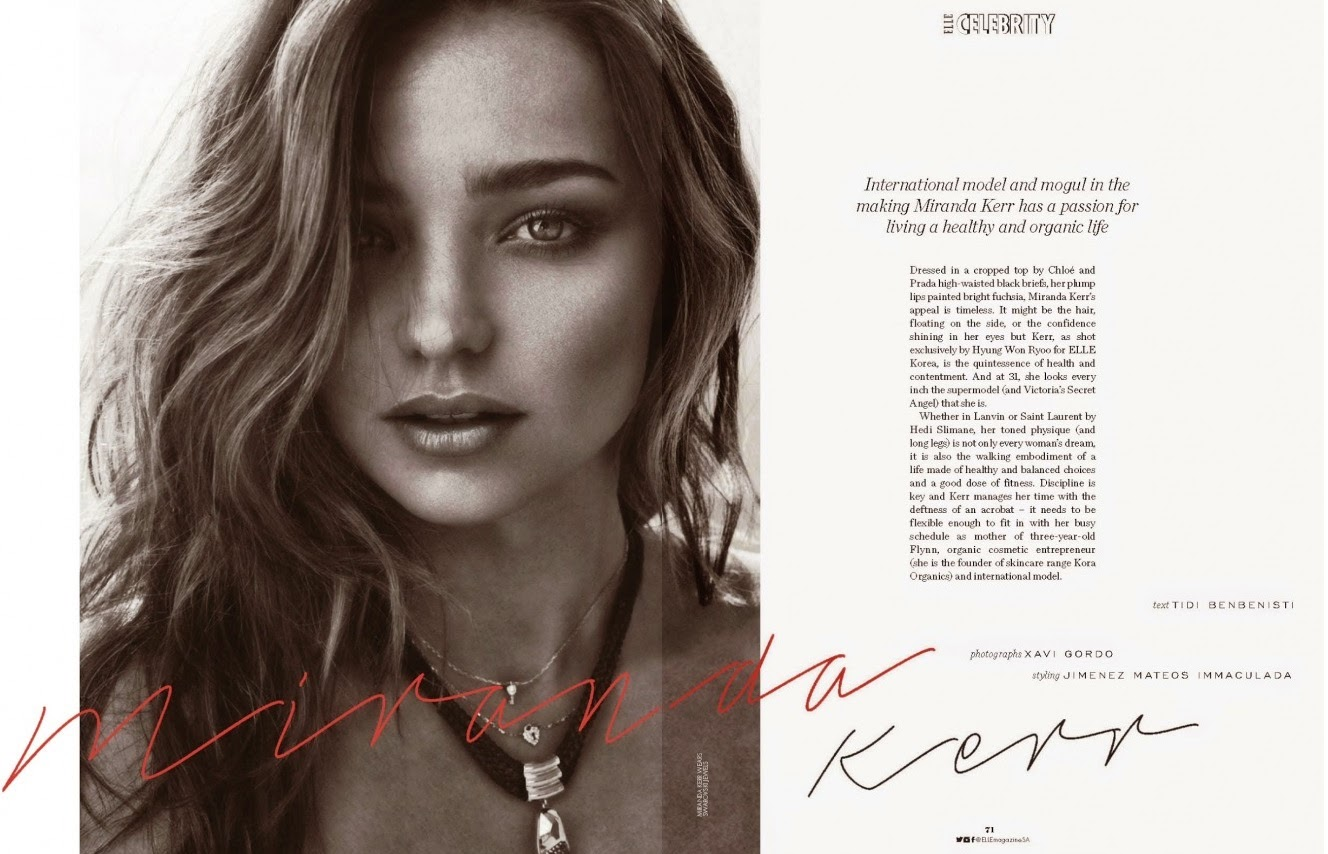 Miranda Kerr Elle South Africa November 2014