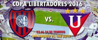 LDU Quito vs San Lorenzo en Copa Libertadores