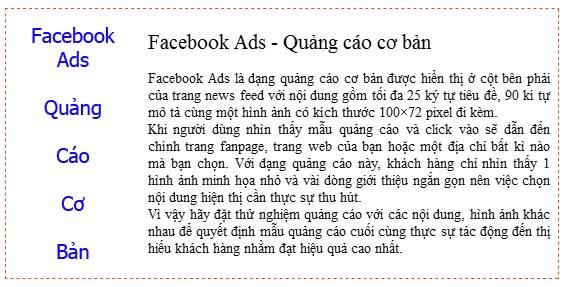 facebook ads quảng cáo cơ bản