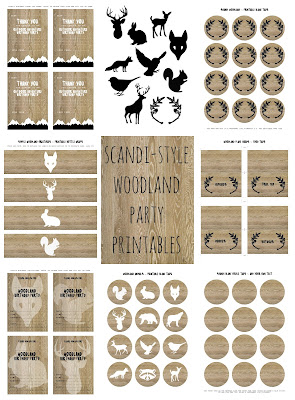 Woodland Creatures Scandi Style designs - available for instant download