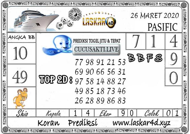 Prediksi Togel PASIFIC LASKAR4D 26 MARET 2020