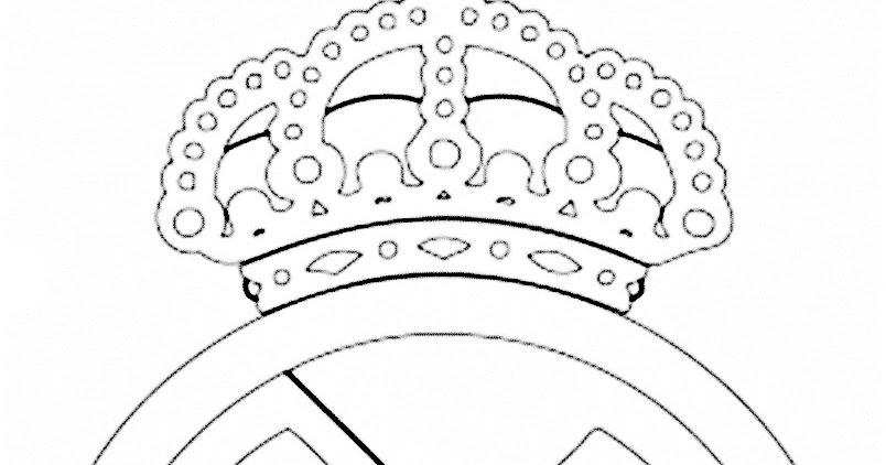 Dibujos Para Colorear Escudo Real Madrid: Pinto Dibujos: Imagenes Del Escudo Del Real Madrid Para