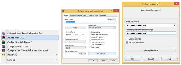 Cara Membuat Password pada File Zip dan Rar