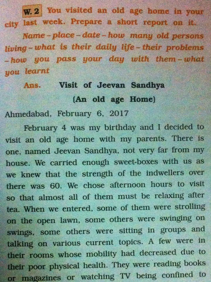 about old age homes in english