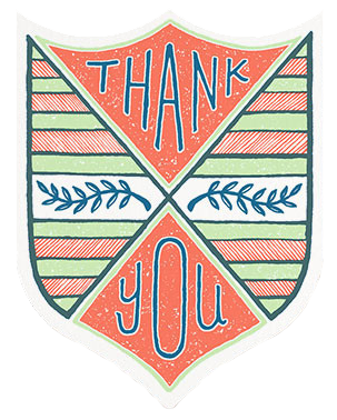 Thank You Badge by Hammerpress