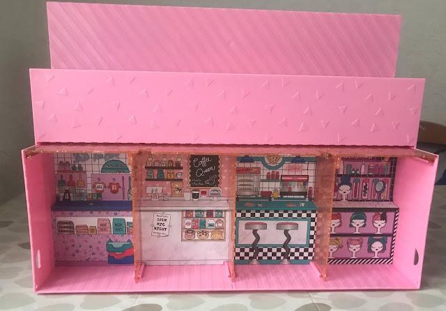The L.O.L Surprise Pop-Up store set up out the box