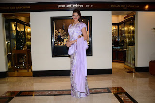 Actress Jacqueline Fernandez Pictures in Sri Lankan Traditional Saree at Cinnamon el  0019.jpg