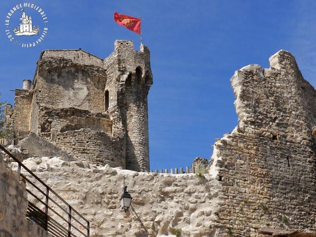 CRUAS (07) - Le château des Moines