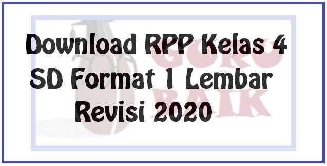 gambar download RPP 1 lembar kelas 4 SD