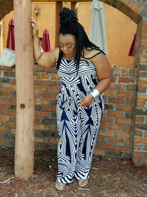 Kishina, curvy blogger, charmed choker, silver cuff, jumpsuit, MAC cosmetics.