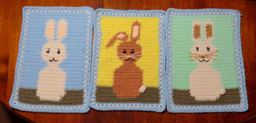 crocheted rabbits