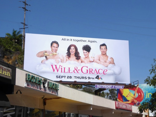 Will and Grace 2017 revival billboard