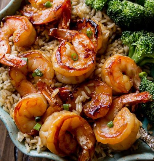 20 Minute Honey Garlic Shrimp #garlicshrimp #yummy
