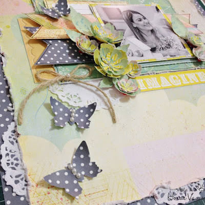 kit aula curso scrapbook scrap scrapbooking imagine prima marketing inc. free spirit collection paper craft crafting diy pretty memories layout página álbum decorado fotografia flores papel sizzix flowers pap passo a passo