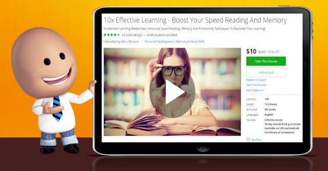 [95% Off] 10x Effective Learning - Boost Your Speed Reading And Memory| Worth 200$