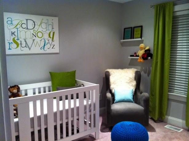 Cuarto bebé paredes grises