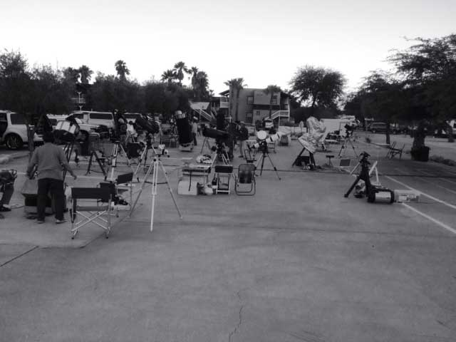 Getting scopes setup in Borrego Springs for Nightfall Festival (Source: Palmia Observatory)