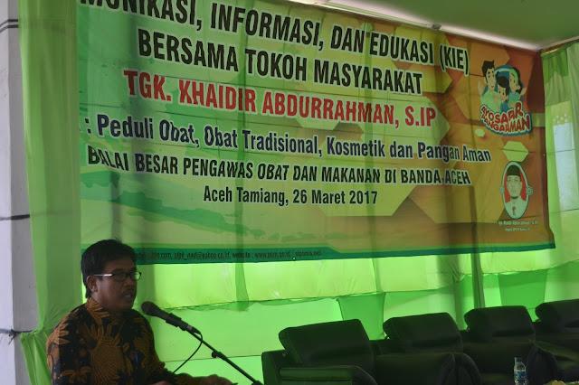 Kadiskes ATAM Apresiasi DPR RI dan Balai POM Banda Aceh.