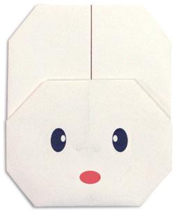 Origami Rabbit Face 2