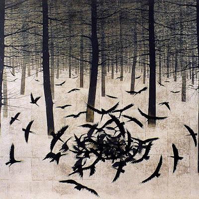 πίνακας του σύγχρονου ιάπωνα ζωγράφου Matazo Kayama (1927 - 2004)