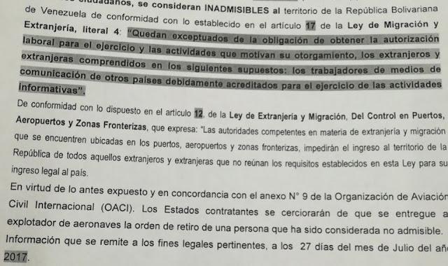Prohíben a reporteros de Portugal de entrar en Venezuela