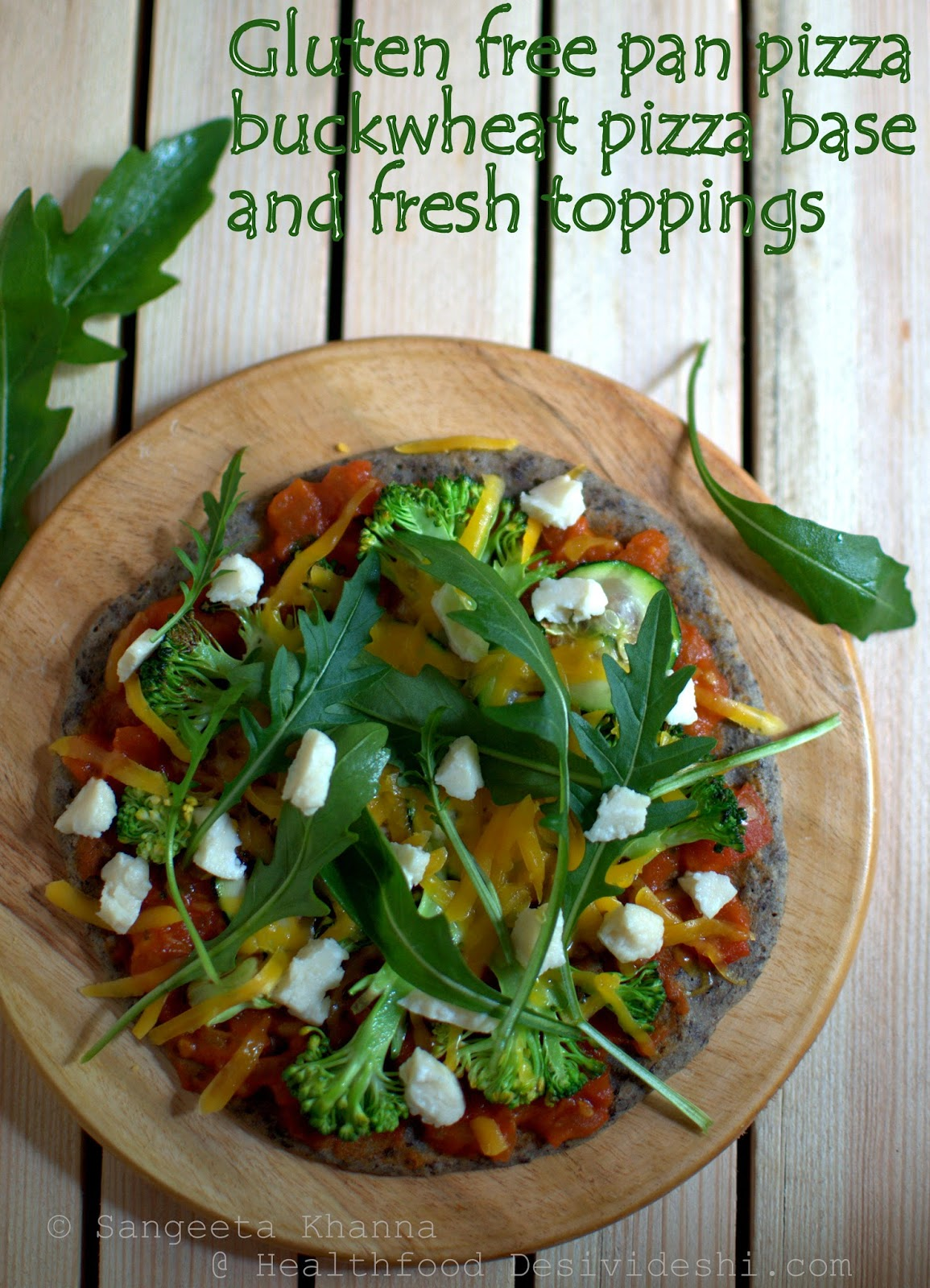101 alternative flours : a gluten free, 3 cheese pizza with garden fresh toppings....