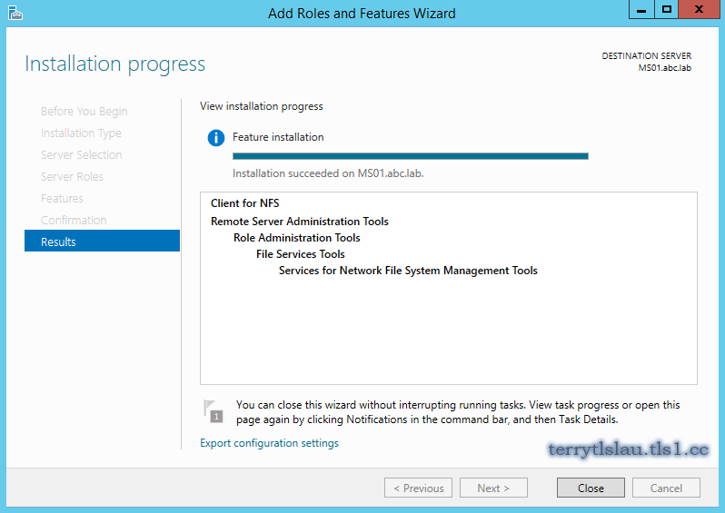 Terry L@u's blog: Access NFS share on Windows Server 2012 or Windows