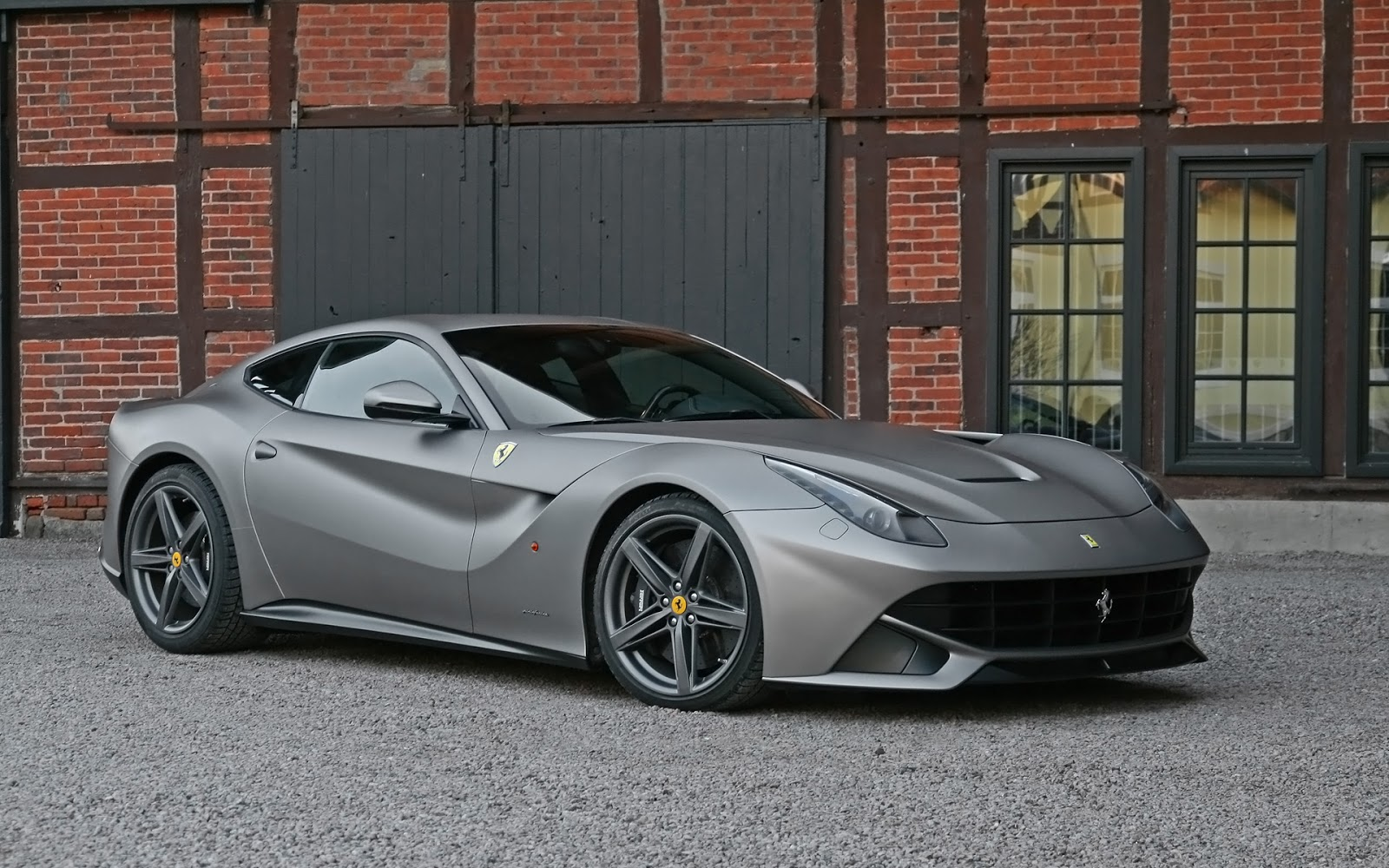 modern cars ferrari f12 berlinetta titanium matte metallic 2013. Black Bedroom Furniture Sets. Home Design Ideas