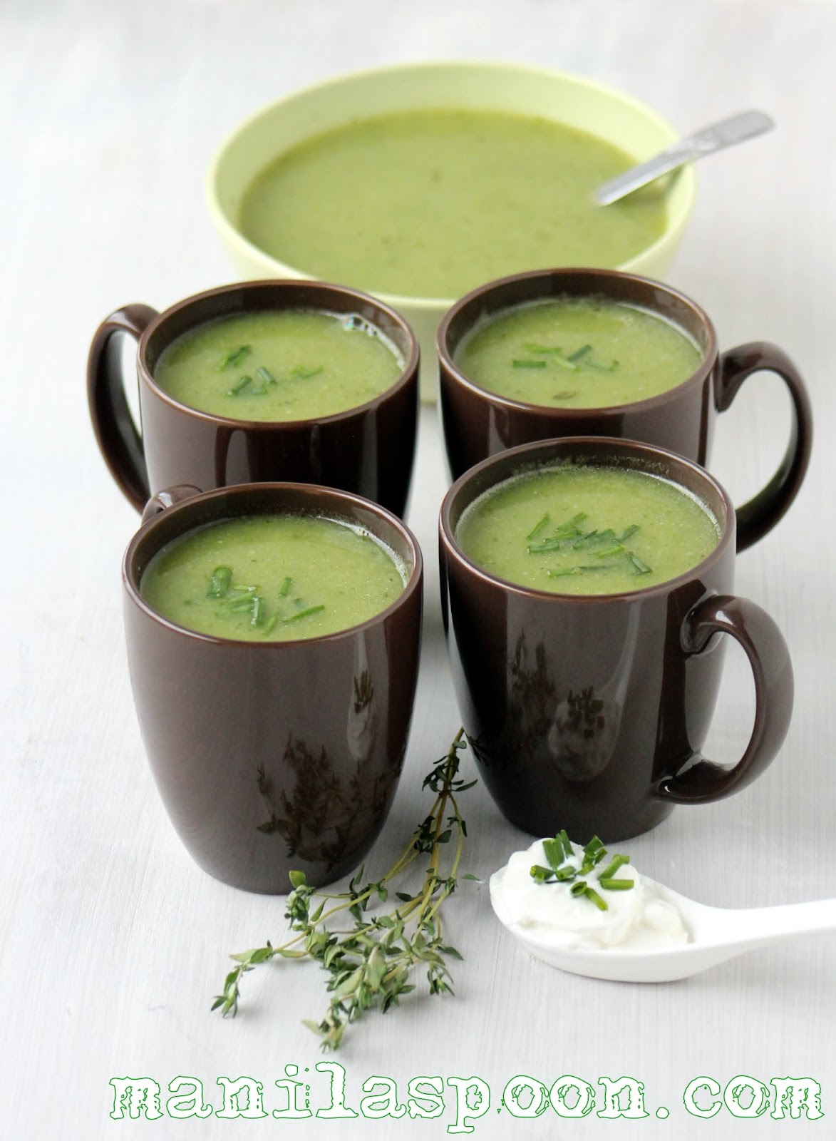Easy to make, tasty and healthy soup for the remaining days of winter and to welcome Spring - ZUCCHINI SOUP. Gluten-free and low-carb, too! | manilaspoon.com