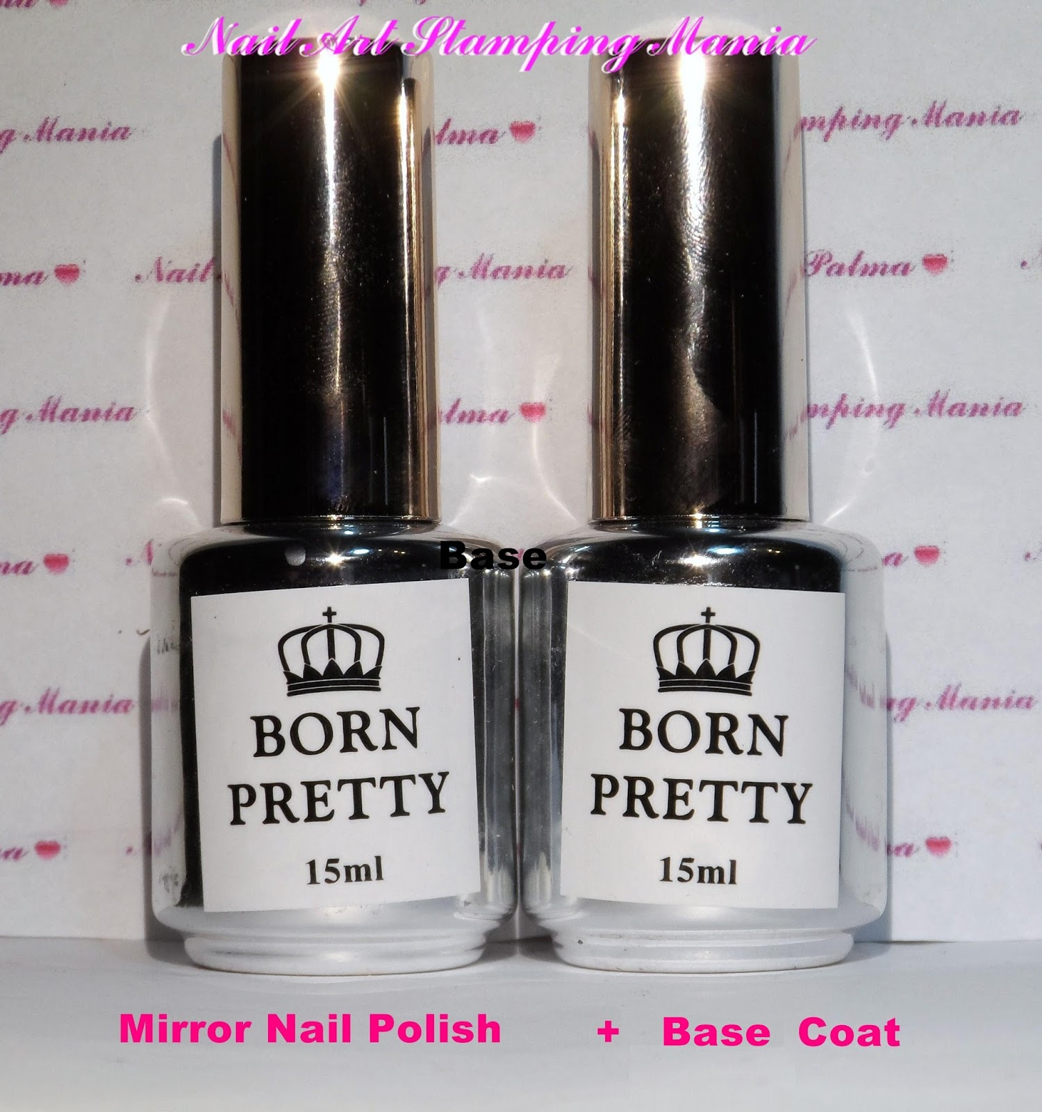 Nail Art Stamping Mania Mirror Nail Polish From Born