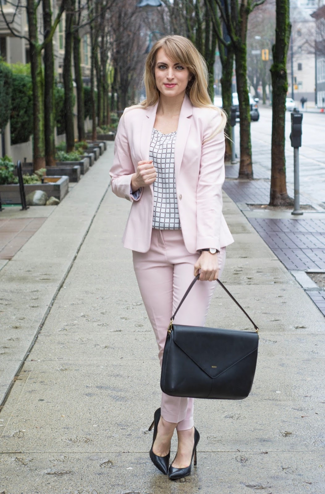express pink suit for women
