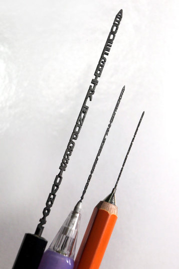 Bytes pencil lead carving