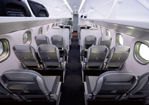 Embraer E195-E2 cabin