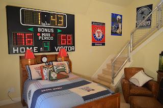 Dormitorio para niño tema deportivo