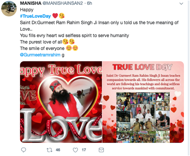 True love Day Trending at Number 1 on Twitter
