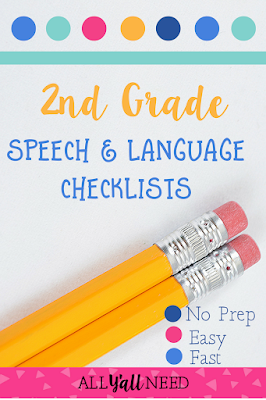 Give these checklists to teachers when they have speech and language concerns about students