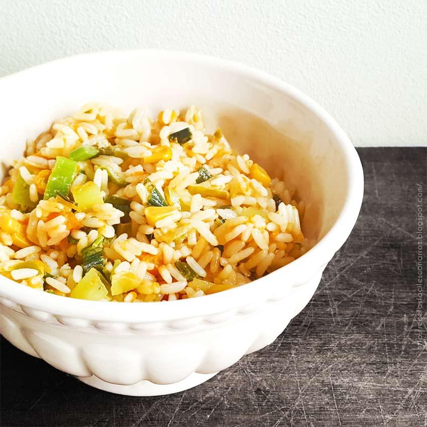 arroz vegetariano rapido