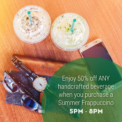 Starbucks Malaysia Handcrafted Beverage Half Price Discount Promo
