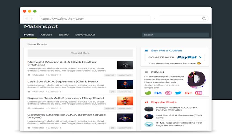 Materispot Minimal Blogger Template - Responsive Blogger Template